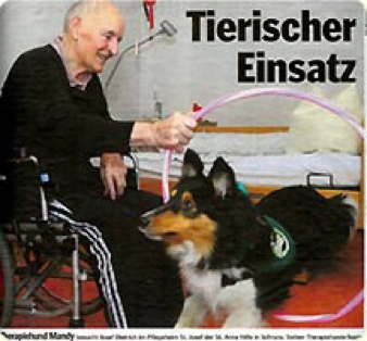Hund in Seniorenheim