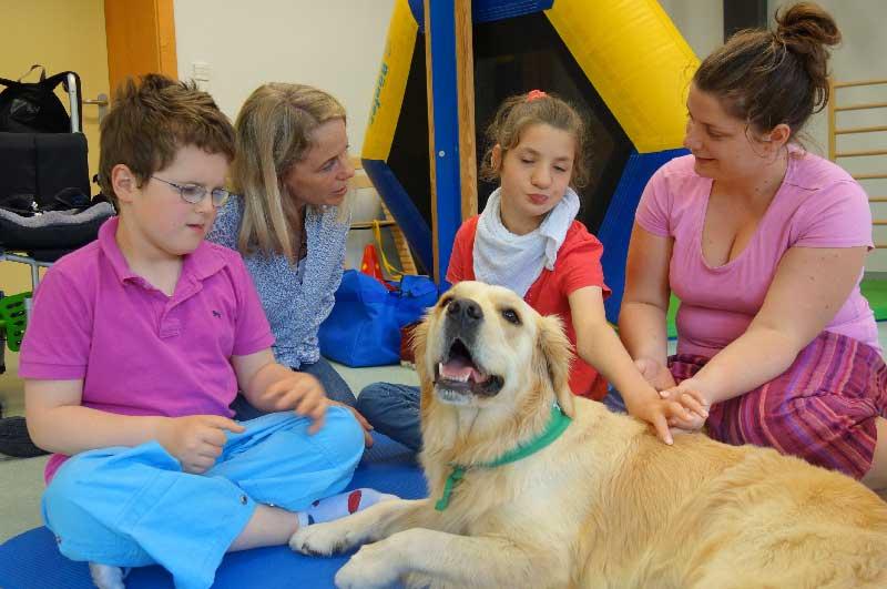 Therapiehundeeinsatz bei Schritt für Schritt
